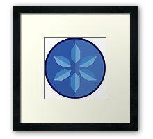 The Legend of Zelda: Ocarina of Time - Water Medallion  Framed Print