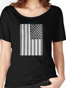American Flag Verticle Women's Relaxed Fit T-Shirt