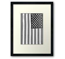 American Flag Verticle Framed Print