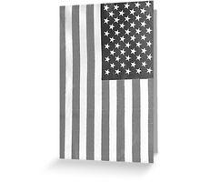 American Flag Verticle Greeting Card