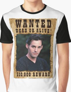Buffy Xander Wanted Graphic T-Shirt