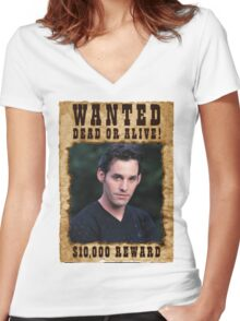 Buffy Xander Wanted Women's Fitted V-Neck T-Shirt