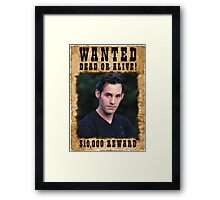 Buffy Xander Wanted Framed Print