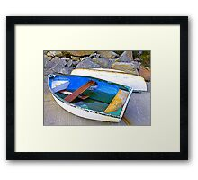 Boats And Boulders Framed Print