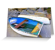 Boats And Boulders Greeting Card