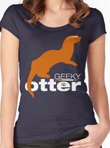 Geeky Otter! Women's Fitted Scoop T-Shirt
