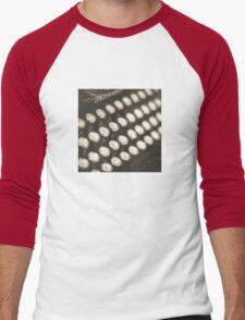 Vintage Typewriter Keys Men's Baseball ¾ T-Shirt