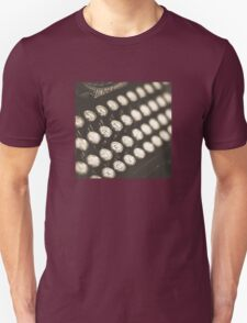 Vintage Typewriter Keys Unisex T-Shirt