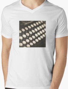 Vintage Typewriter Keys Mens V-Neck T-Shirt
