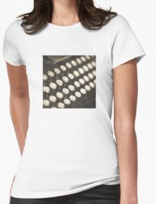 Vintage Typewriter Keys Womens Fitted T-Shirt