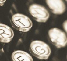 Vintage Typewriter Keys Sticker