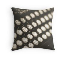 Vintage Typewriter Keys Throw Pillow