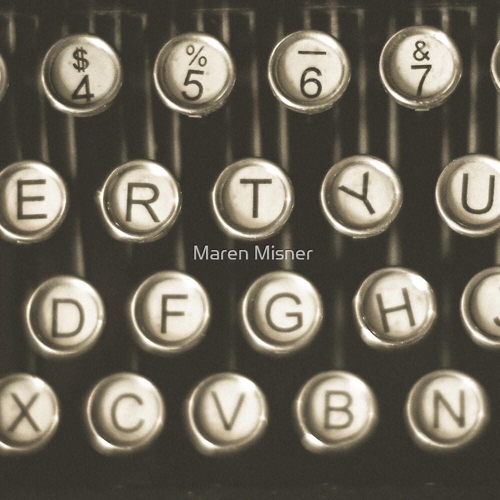 Vintage Typewriter Keys by Maren Misner