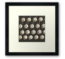Vintage Typewriter Keys Framed Print