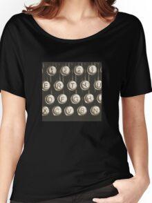 Vintage Typewriter Keys Women's Relaxed Fit T-Shirt