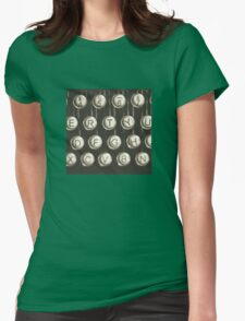 Vintage Typewriter Keys Womens Fitted T-Shirt