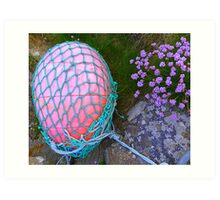 The Missing Pink Rugby Ball Art Print