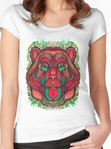Psychedelic bear Women's Fitted Scoop T-Shirt