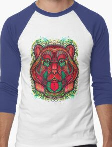 Psychedelic bear Men's Baseball ¾ T-Shirt