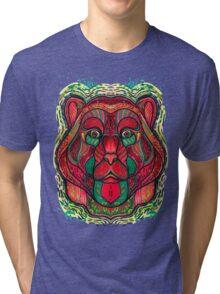 Psychedelic bear Tri-blend T-Shirt