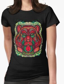 Psychedelic bear Womens Fitted T-Shirt