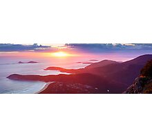 Sunset from Mt Oberon, Wilsons Promontory, Victoria Australia Photographic Print