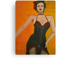 Burlesque Beauty Canvas Print