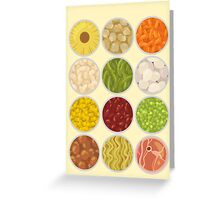 Canned food Greeting Card