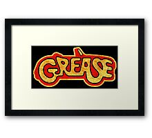 °MOVIES° Grease Rust Logo Framed Print