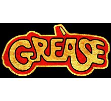 °MOVIES° Grease Rust Logo Photographic Print