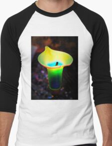 Abstract Calla Lily Men's Baseball ¾ T-Shirt
