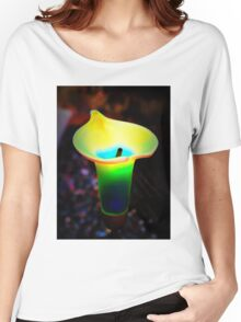 Abstract Calla Lily Women's Relaxed Fit T-Shirt