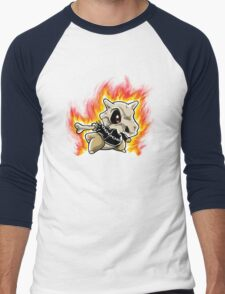 Cubone on fire Men's Baseball ¾ T-Shirt
