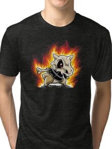 Cubone on fire Tri-blend T-Shirt
