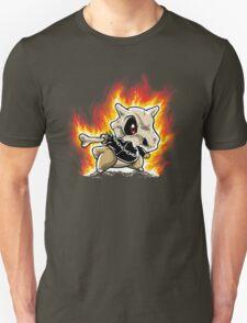 Cubone on fire Unisex T-Shirt