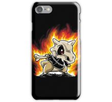 Cubone on fire iPhone Case/Skin
