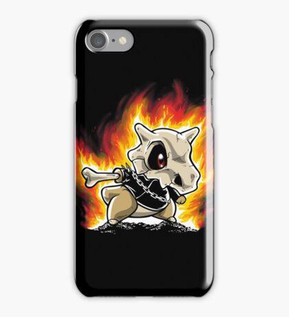 Cubone on fire iPhone Case/Skin