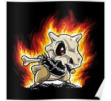 Cubone on fire Poster