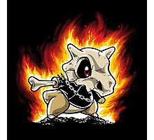 Cubone on fire Photographic Print