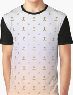 Anchor pattern with ombre background Graphic T-Shirt