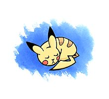 Sleepy Pikachu #2 by LaraFrizzell