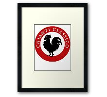 Black Rooster Chianti Classico Framed Print