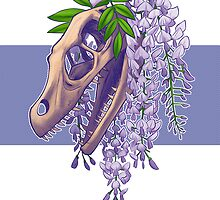 Velociraptor with Wistera by jadiekins