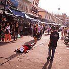 Street Scene Bangkok by Andrew  Makowiecki