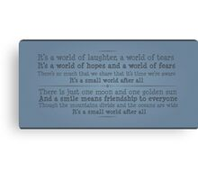A World of Laughter Canvas Print