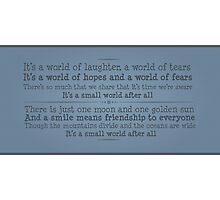 A World of Laughter Photographic Print