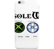 Gaming Console Wars. iPhone Case/Skin