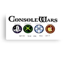 Gaming Console Wars. Canvas Print