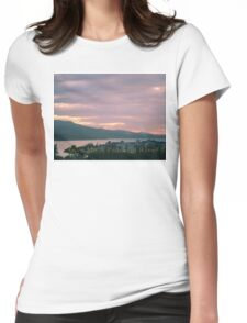 Peaceful River Womens Fitted T-Shirt