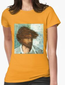 Thom Yorke of Radiohead Portrait / Painting Womens Fitted T-Shirt